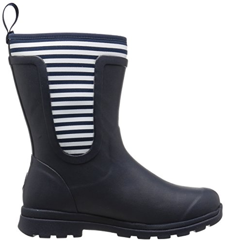 Mid Wellingtons Work white Boots Cambridge navy Muck Blue Stripes Femme A6xnp
