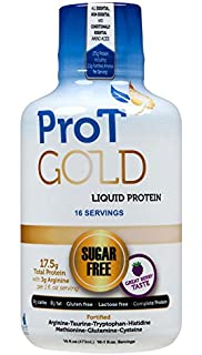 ProT GOLD - Berry Sugar Free Liquid Protein Shot - 16oz Bottle with 16 1oz servings