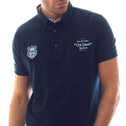 School Marine Bleu Old Rugby Polo wEzCqUUv