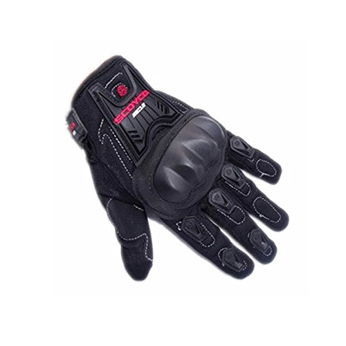 Pink Lizard Full Finger Carbon Safety Motorcycle Gloves for Scoyco MC12
