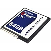 Super Talent Cfast Pro Card 64GB Reliable MLC NAND Type Flash (FDM064JMDF)