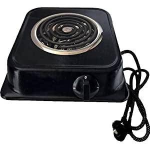 H.V TRADERS induction cooktop hotplate jog dial 2000W (black) with isi fitted element