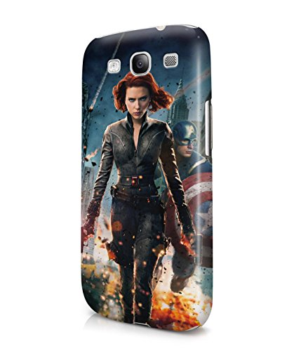 Black Widow Captain America The Avengers Plastic Snap-On Case Cover Shell For Samsung Galaxy S3