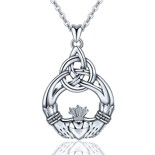 AEONSLOVE Women 925 Sterling Silver Celtic Knot You are My Only Love Earring Jewelry Set Pendant Necklace ()