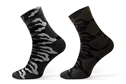 Sesto Senso Chaussette Hommes Camouflage Coton 1 ou 2 paires Camo Militaire Randonnée Plein Air Sports HUNTING 1