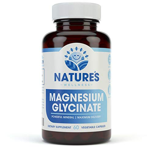 Magnesium Glycinate Chelate 425 mg | Better Bone Health | Relieves Muscle Cramping | Non GMO | Gluten Free | 60 ct