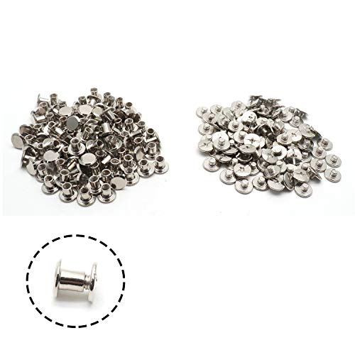 cago Screws Nail Stainless Steel Rivet Chicago Button for Decorating Bags & Bookbinding 5mm/0.2