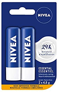 NIVEA Essential Caring 12H Moisture Lip Balm Sticks, Duo Pack (2 x 4.8 g) (B00BO0BCGQ)   Amazon Products