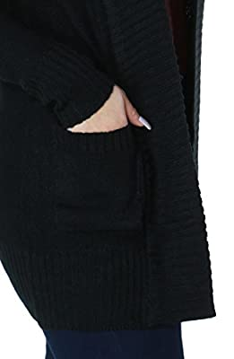 Womens Fashion Comfortable Warm Long Sleeve Knit Cardigan with Pockets