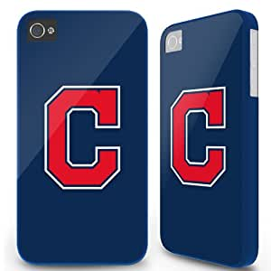 Iphone 4 4S Hard Case Cover - Cleveland Indians C Blue -04