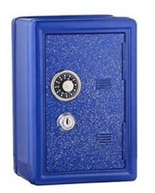 (Glitter Safe Bank - Mini Locker with Glitter - Kids Storage Locker (Blue))