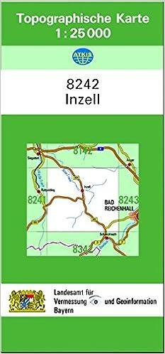 Inzell Karte.Tk25 8242 Inzell Topographische Karte 1 25000 Tk25 Topographische