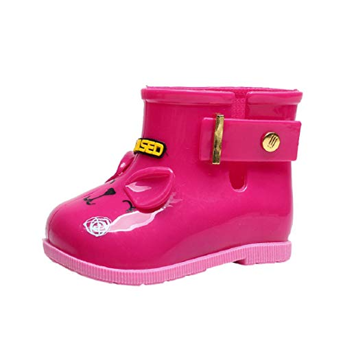 (Toddler Baby Girls Rain Boots Rubber Rain Shoes with Buckle Kids Children Cut Bow Rain (0-6.5T) by Lowprofile Hot)
