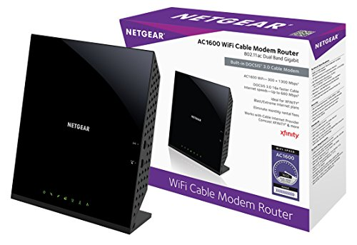Netgear C6250-100NAS AC1600 (16x4) WiFi Cable Modem Router Combo (C6250) DOCSIS 3.0 Certified for Xfinity Comcast, Time Warner Cable, Cox, More (Renewed) (Wireless Gateway Comcast)