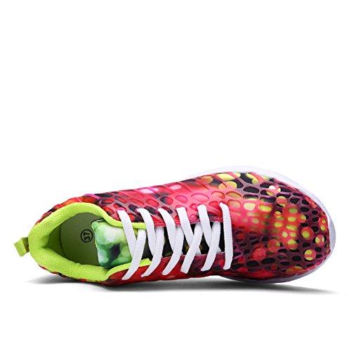 Aller Tour Hommes Femmes Unisexe Couple Casual Mode Sneakers Respirant Sport Athlétique Chaussures De Course Rouge