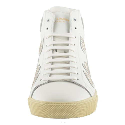 Saint Laurent Dames Lederen Mode Sneakers Schoenen Wit
