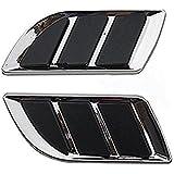 LAXON PACK OF 2 Pcs Decorative, Stylish Car Turbo Bonnet Hood Side Vent Grille Cover Sticker(CHROME) for Swift/Maruti 800/Alto/wagonr/Hyundai/volkswagon