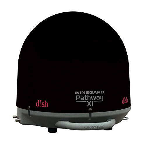 Winegard PA-2035 Pathway X1 Automatic Portable Truck Satellite TV Antenna for DISH (Trucking Satellite Antenna, Optional Mounts) - Black