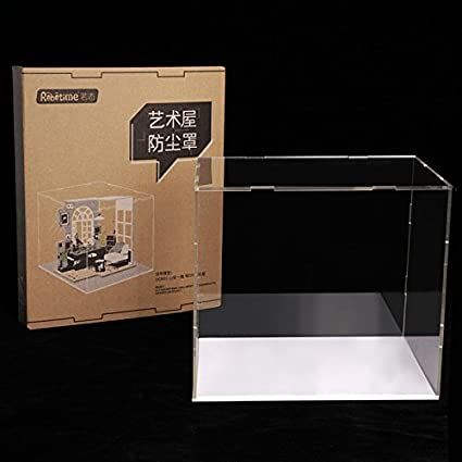 """SET OF 2 DOLL DISPLAY DUST COVERS CLEAR SIZE 12/"""" INCHES NEW"""
