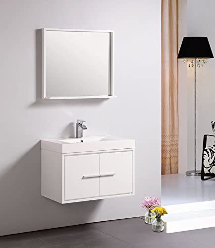 Dowell 007 24 30 Wall Mount Bathroom Vanity Polymarble Top Set 18 D 24 White Amazon Com