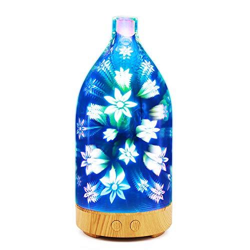 - Aroma Diffuser 3D Glass Lampshade 100Ml Mini Aromatherapy Machine Humidifier Atomizer Multi-Function Diffuser,B