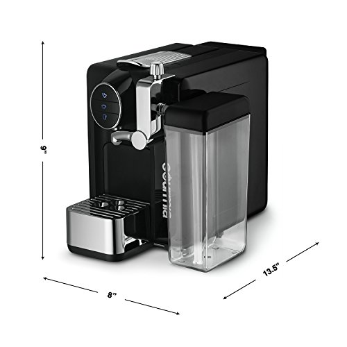 Gourmia GCM6500 One Touch Automatic Espresso Cappuccino & Latte Maker Italian engineered and components Coffee Machine Froth Milk In Cup with the Push of One Button Nespresso Compatible by Gourmia (Image #6)