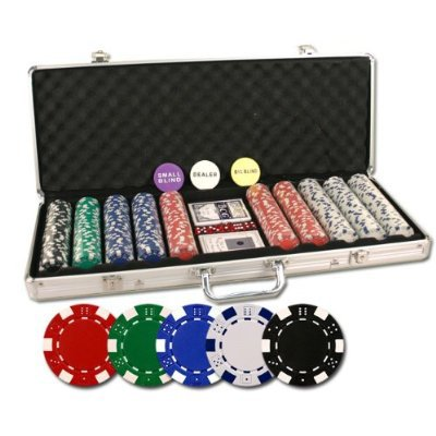 DELUXE 500 PIECE POKER CHIP SET (Large Image)