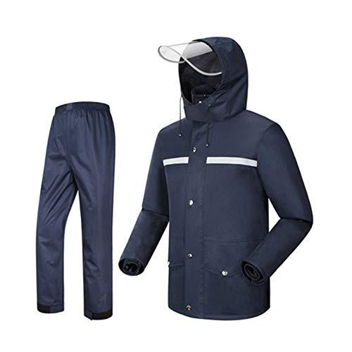 Navy XX-grand Ldwxxx Le Poncho imperméable de Manteau de Pluie de Manteau de Pluie de Costume de Manteau de Pluie de Mode Fendue, approprié au Camping Voyage Escalade en Montagne