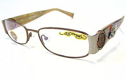 f5dfb62aa19 Amazon.com  Ed Hardy EHO-711 Womens Designer Eyeglasses - Brown ...