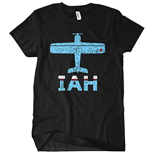 Smash Vintage Women's Fly Houston IAH Airport T-shirt - Black, - Shops Iah Airport