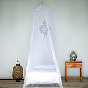 EVEN Naturals MOSQUITO NET for Bed, for Twin, Super Single, Double to Queen Size, Bed Canopy Curtains, LARGE White Mosquito Netting with Opening, Easy Installation, Carry Bag
