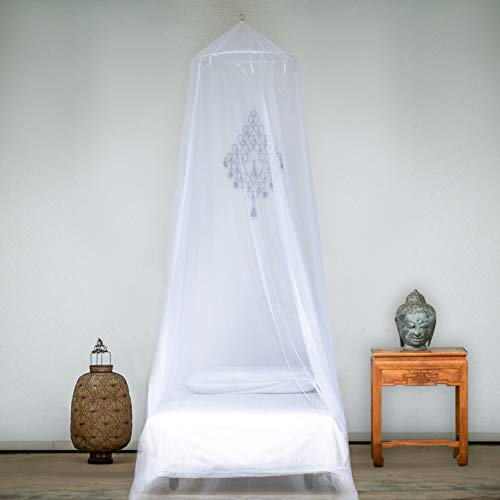EVEN Naturals Mosquito NET for Bed, Gift for Single, Twin to Queen Size, Bed Canopy Curtains, Large White Mosquito Netting with Opening, Easy Installation, Carry Bag