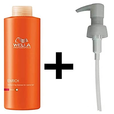 Wella Professionals Enrich Moisturising Shampoo Thick/Coarse Hair 1 litre/1000 ml + PUMP by Wella
