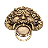 Solid Brass Towel Ring 4''dia Hand Made Exclusive Design Yak Rahul 8''x 8''