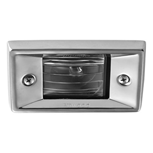 Attwood 66382-7 Marine Vertical Flush Mount Rectangular Transom Light Marine RV Boating Accessories