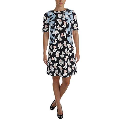 Marc by Marc Jacobs Women's Pinwheel Flower Dress, Black Multi, 8 (Marc Silk Dress Jacobs)