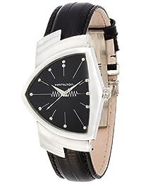 Hamilton Swiss Made American Classic Shaped Ventura H24411732 Wristwatch for Him Design Highlight