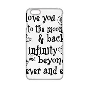 Slim Thin I Love You To The Moon And Back Phone Case for iPhone 6 Plus