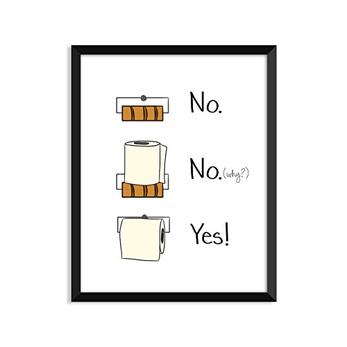 Toilet Paper Bathroom Rules, Inspiration Quote, Funny, Adult, Minimalist Poster, Home Decor, College Dorm Room Decorations, Wall Art