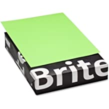 """Mohawk Brite-Hue Color Paper - Letter - 8.5"""" x 11"""" - 20lb - Smooth - 500 / Ream - Ultra Lime"""