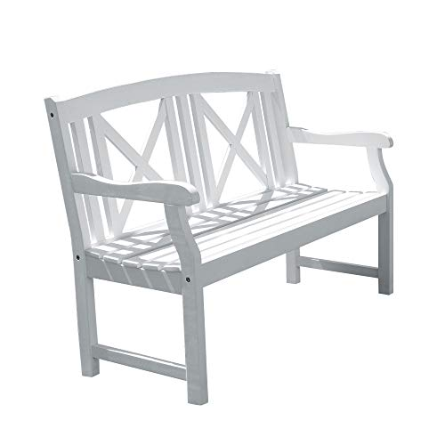 Vifah V1353 Bradley Outdoor Wood Bench