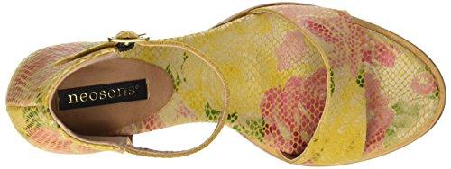 Neosens à à Femme Floral Floral Cheville la Yellow Multicolore S990 Fantasy Bride Sandales Montua Yellow r8BYrqx