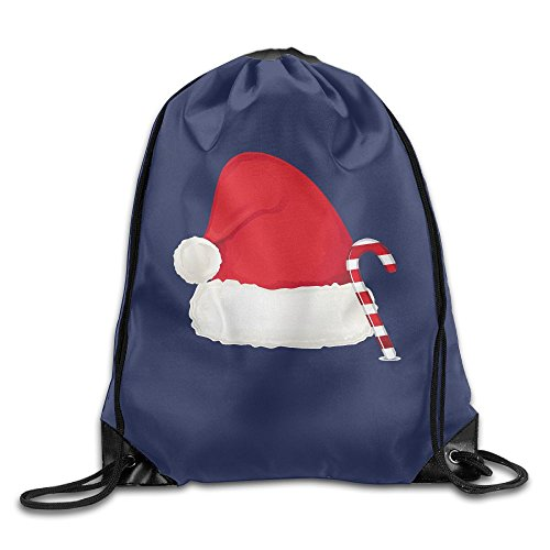 Santa Hat Wonderful Halloween Beam Backpack Drawstring Travelling Bundle Pocket Canvas Storage Bag