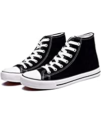 Women's Canvas Shoes Casual Sneakers Low Cut Lace up Fashion Comfortable for Walking