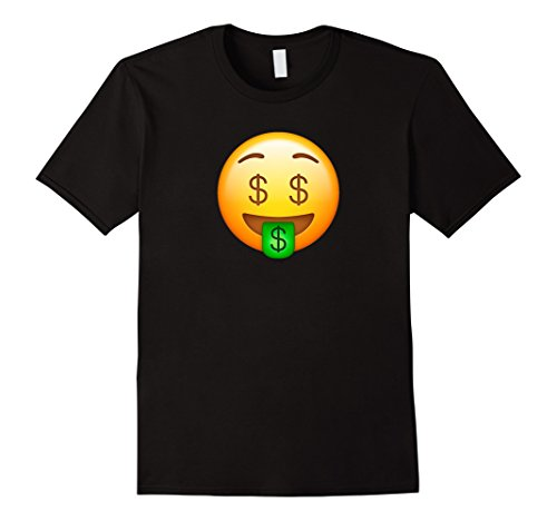 Men's Cool Graphic Design Money Emoji Face Funny T-shirt Medium Black