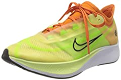 Taking inspiration from the Vapor Fly, the Nike Women's Zoom Fly 3 Rise running shoes, part of the Nike Women's Rise Collection, gives distance runners race-day comfort and stability. A Swoosh Sunburst graphic that was created in 1972 by Jeff...