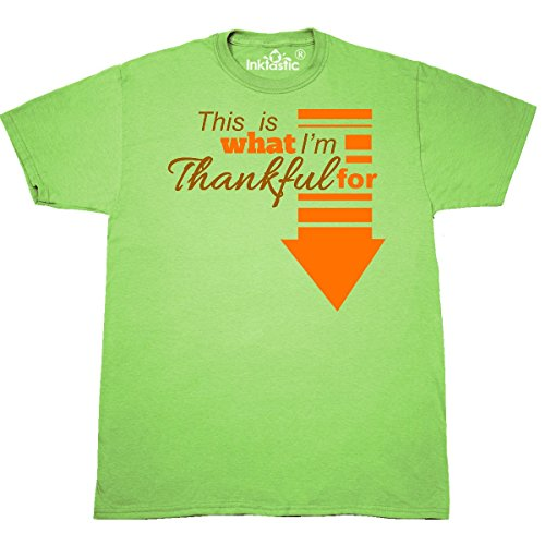 Inktastic - This is what I'm thankful for T-Shirt XXX-Large Key Lime