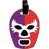 By Mexico Identificador de Maletas modelo Máscara de Luchador Rojo-Morado