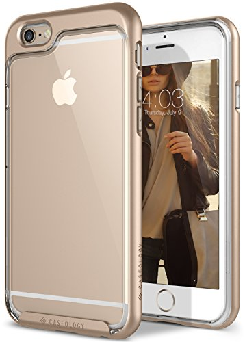 iPhone 6S Plus Case, Caseology [Skyfall Series] Transparent Clear Enhanced Grip [Gold]...