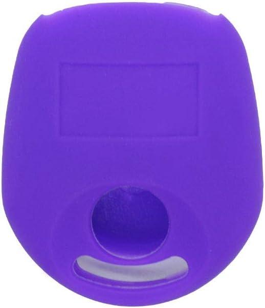 SEGADEN Silicone Cover Protector Case Holder Skin Jacket Compatible with SSANGYONG Actyon Kyron Rexton 2 Button Remote Key Fob CV4632 Pink
